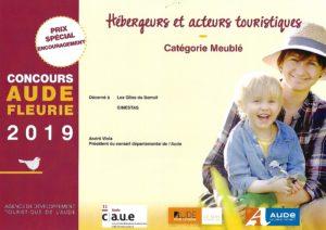 Prix Spécial Aude Fleurie décerné aux Gîtes du Somail